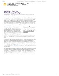 Educational Opportunity Program - University at Albany - SUNY - Rashaun J