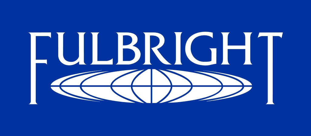 This image has an empty alt attribute; its file name is fulbright-logo-white-blue-bkgd.jpg